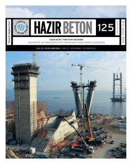 Hazır Beton Dergisi 125. Sayı - Türkiye Hazır Beton Birliği
