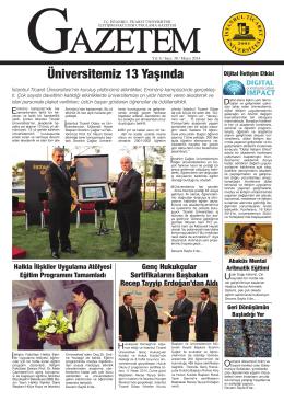 Üniversitemiz 13 Yaşında - İstanbul Ticaret Üniversitesi