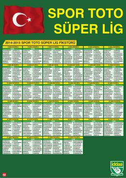 2014-2015 SPOR TOTO SÜPER LİG FİKSTÜRÜ