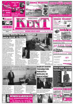 21-01-2015 Tarihli Kent Gazetesi
