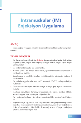 61. İntramuskuler (IM) Enjeksiyon Uygulama
