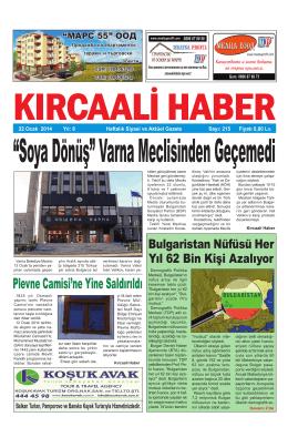 Sayı 215/2014 - Kırcaali Haber
