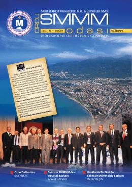 OSMMMO Bülten Dergisi 37.Sayı - ordu serbest muhasebeci ve mali