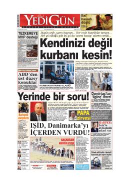 kurbanı kesin! - Yedigün Gazetesi