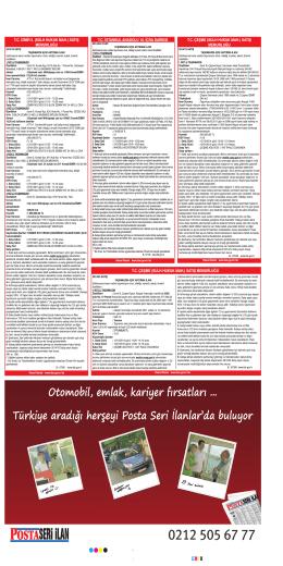 T.C. ÇEŞME (SULH HUKUK MAH.) SATIŞ MEMURLUĞU