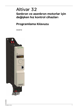 Schneider Elektrik Altivar32 Kullanım Katalog