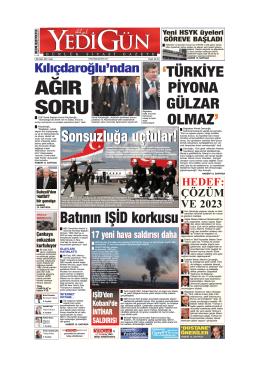 AĞIR SORU - Yedigün Gazetesi