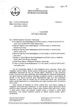 Ek-1 - Akdeniz İlçe Milli Eğitim Müdürlüğü