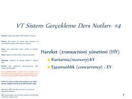VT Sistem Gerçekleme Ders Notları