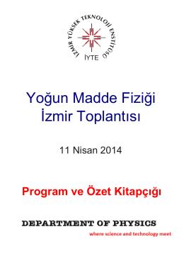 Yoğun Madde Fiziği İzmir Toplantısı