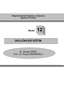 OKULÖNCESİ EĞİTİM
