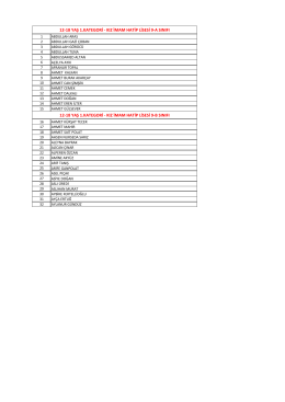 12-18 YAŞ 1.KATEGORİ - KIZ İMAM HATİP LİSESİ 9-A SINIFI 12