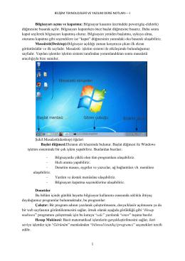 Bilgisayarı açma ve kapatma: Bilgisayar kasanın üzerindeki