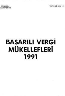 BASA RI Ll VERGI MUKELLEFLERI