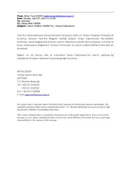 Türk-Rus Hükümetlerarası Karma Ekonomik Komisyonu (KEK) 12