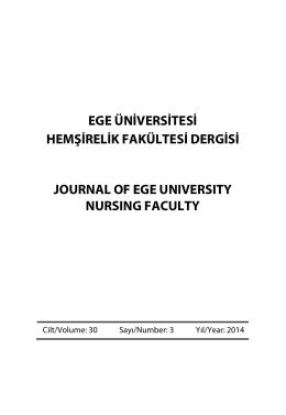 Sayi 3 - 2014 - Hemşirelik Yüksekokulu