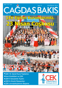 23 Nisan Coşkusu - Çağdaş Eğitim Kooperatifi
