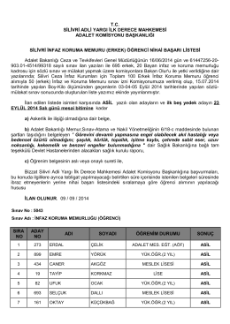 T.C. SİLİVRİ ADLİ YARGI İLK DERECE