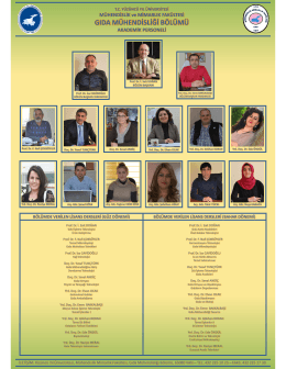 gıda mühendisliği bölümü - Yüzüncü Yıl Üniversitesi