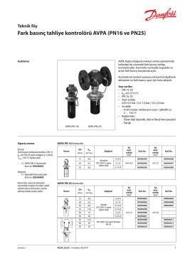 Fark basınç tahliye kontrolörü AVPA (PN16 ve PN25)