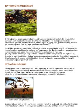 zeytinyağı ve özellikleri
