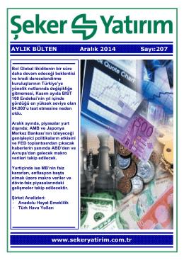 AYLIK BÜLTEN Aralık 2014 Sayı:207 www