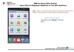 SMS ile Geçici Şifre Üretme