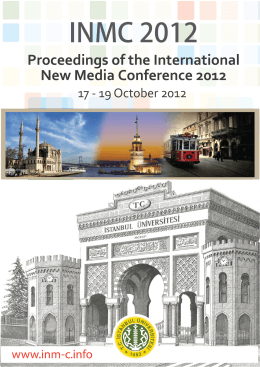 Proceedings of the International New Media Conference 2012