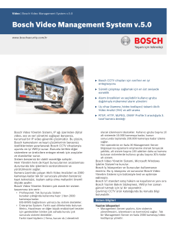 Bosch Video Management System v.5.0