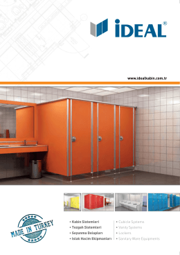 • Kabin Sistemleri • Cubicle Systems • Tezgah