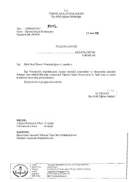 T.c. - mersin - toroslar ilçe millî eğitim müdürlüğü