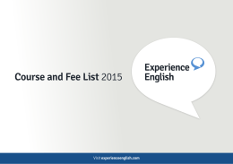 Course and Fee List 2015