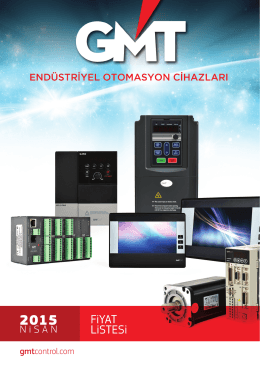 Nisan 2015 Fiyat Listesi - GMT Endüstriyel Elektronik