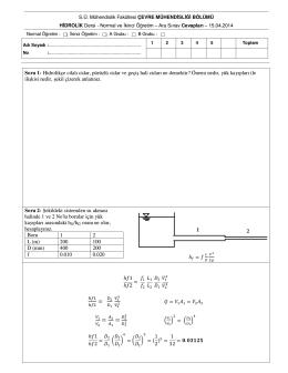 Page 1 S.Ü. Mühendislik Fakültesi ÇEVRE MÜHENDİSLİĞİ