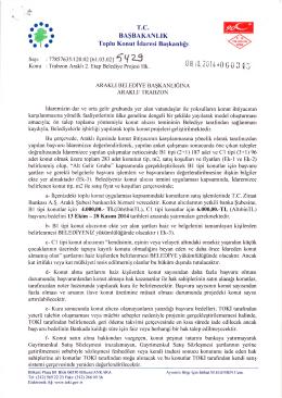 TOKİ 2. ETAP - Araklı Belediyesi