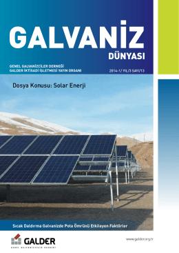 Dosya Konusu: Solar Enerji