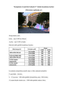 """""""Kempinskiy Grand Otel Gelincik 5*"""" Otelde Konaklama"""