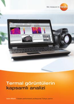 testo IRSoft-Termal görüntülerin kapsamlı analizi broşürünü