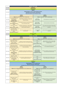 SCIENTIFIC PROGRAMME *New - nafi 2014