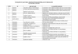 enfeksiyon kontrol hekimliği resertifikasyon programı katılımcı listesi