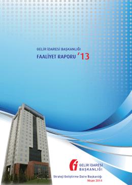 Gelir İdaresi Başkanlığının 2013 Yılına Ait Faaliyet Raporu