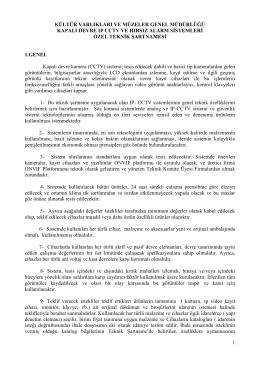 2014 Yılı Kültür ve Turzim Bakanlığı Kapalı Devre IP CCTV ve Hırsız