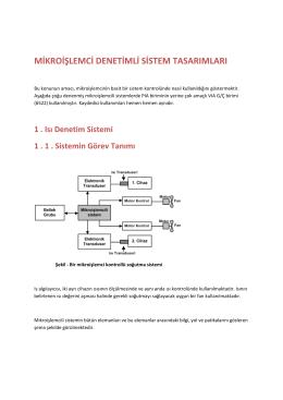 mikroişlemci denetimli sistem tasarımları