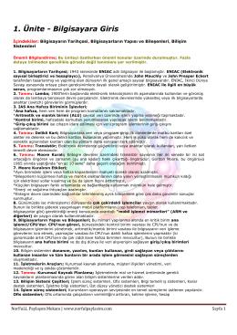 Temel Bilgi Teknolojileri 1-4