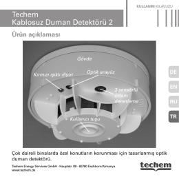 Techem Kablosuz Duman Detektörü 2