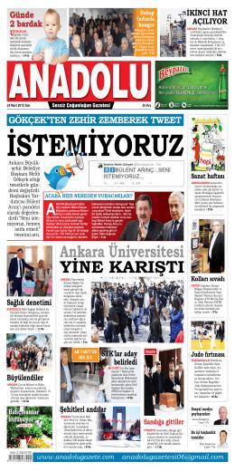 21 Mart 2015 - Anadolu Gazete