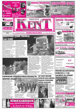 19-01-2015 Tarihli Kent Gazetesi