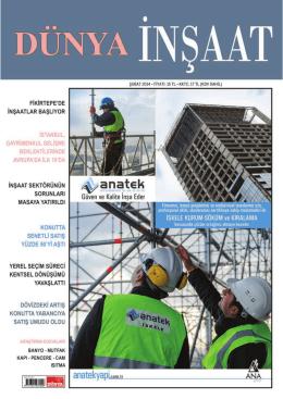 insaat Subat 2014.indd - Dünya İnşaat Dergisi