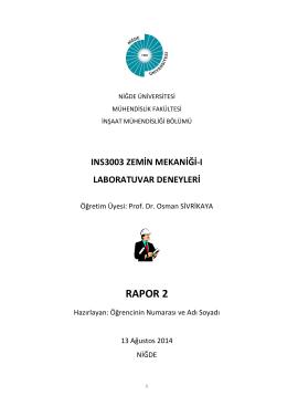 RAPOR 2 - Niğde Üniversitesi