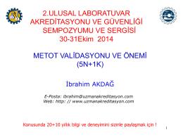 Metot Validasyonu - Uzman Laboratuvar Akreditasyon Danışmanlık